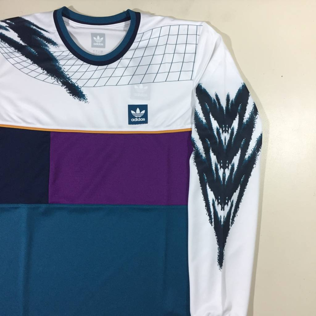 ADIDAS FOOTWEAR Tennis LS Jersey White / Multi