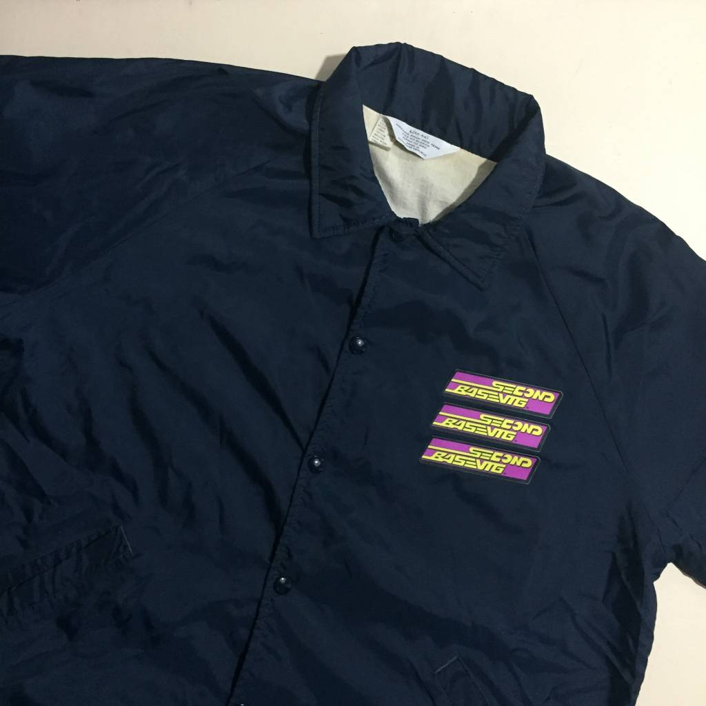 2ND BASE VINTAGE Wet 'Em Up x Nylon Coaches Jacket LG