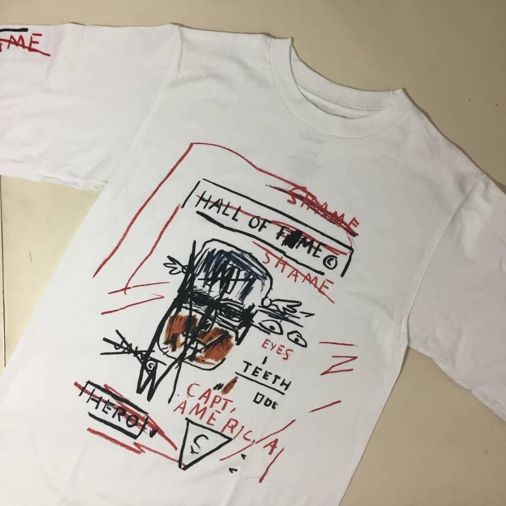 Diamond X Basquiat Hall Of ??? LS T-Shirt White