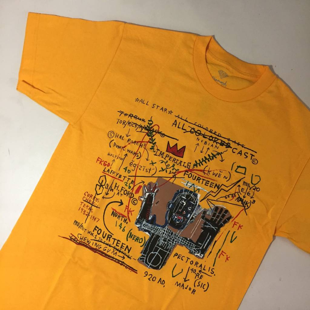 Diamond X Basquiat Cast T-Shirt Gold
