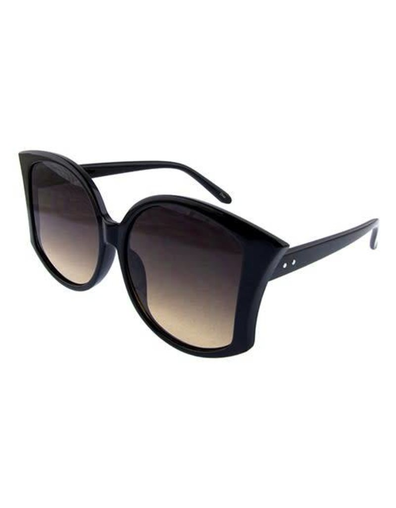 Ocean & Land Curved Pointed Oversized Sunglasses