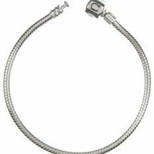 "Chamilia Bracelet- Silver Snap 7.9"""