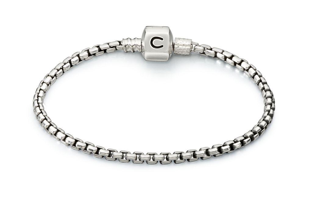 Chamilia Box Chain Bracelet 7.1&quot;<br />Bracelet - Silver Snap<br />Bracelet - Silver Snap<br />Bracelet - Silver Snap 6.7&quot;