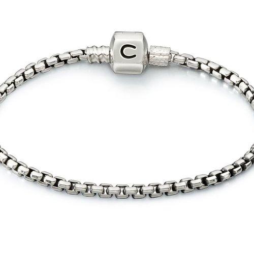 Chamilia Box Chain Bracelet 7.5&quot;<br />Bracelet - Silver Snap<br />Bracelet - Silver Snap<br />Bracelet - Silver Snap 6.7&quot;