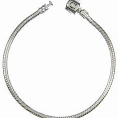 "Chamilia Bracelet- Silver Snap 8.7"""