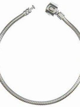 "Chamilia Bracelet- Silver Snap 9.5"""