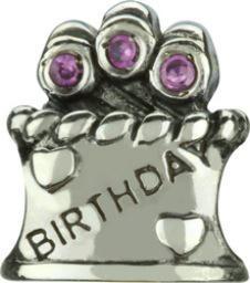 Chamilia Happy Birthday- Pink CZ