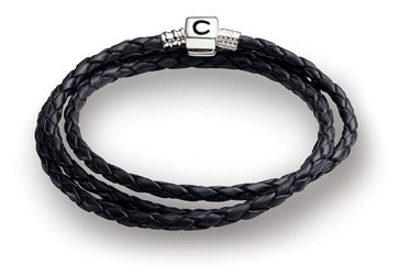 "Chamilia 22.2"" Ebony Braided Leather Wrap Bracelet"