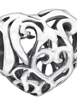 Chamilia Bead Sterling Silver Filigree Heart