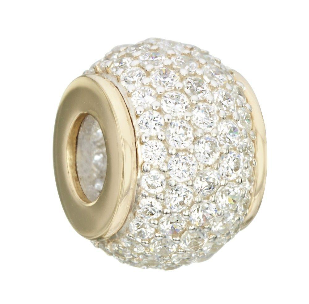 Chamilia 14kt Gold Brilliance Micropave Dazzle Bead