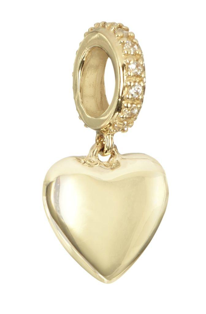 Chamilia 14kt Gold Heart Dangle Charm