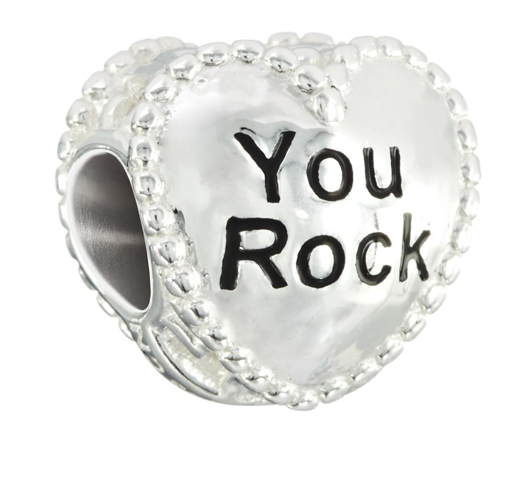 "Chamilia ""You Rock"" Candy Heart Bead"