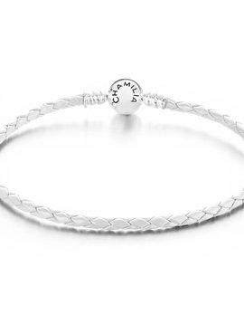 Chamilia Medium White Bracelet with Snap Closure