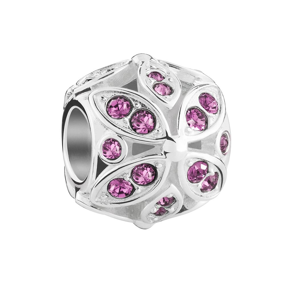 Chamilia Floral Accents Bead in Amethyst