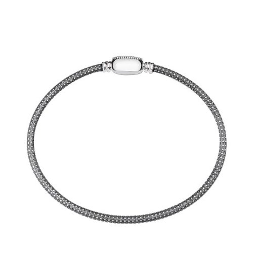 Chamilia Medium Oval Touch Bracelet - Oxidized