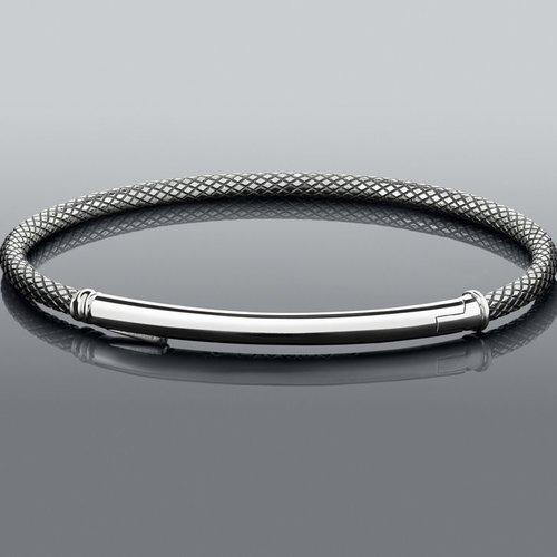 Chamilia Medium Connections Bar Bracelet - Oxidized