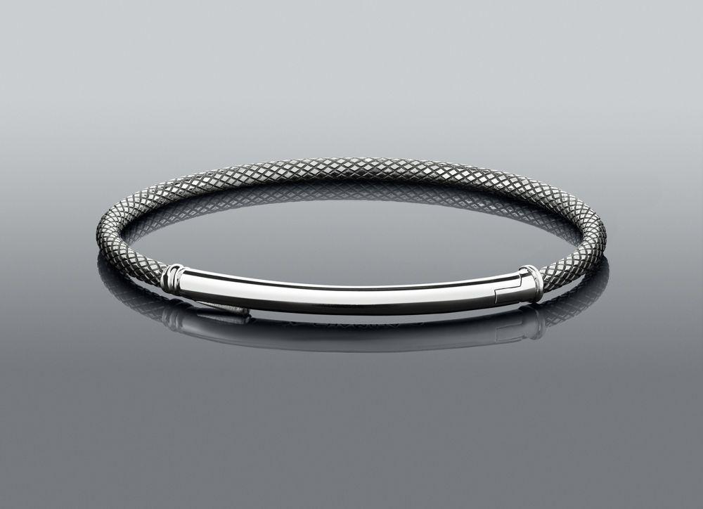 Chamilia Large Connections Bar Bracelet - Oxidized