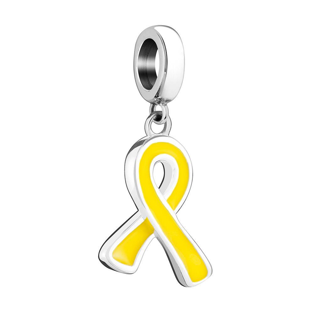 Chamilia Yellow Ribbon Bead