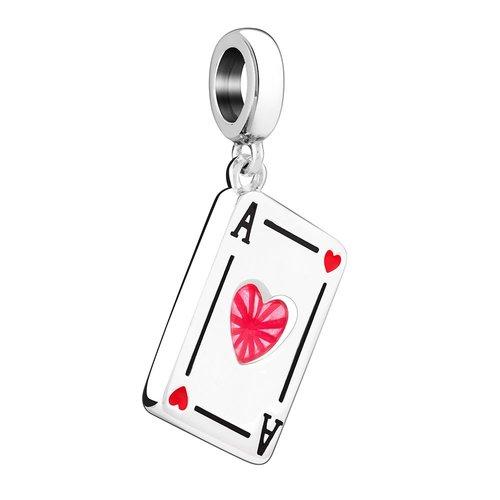 Chamilia Ace of Hearts Card Bead