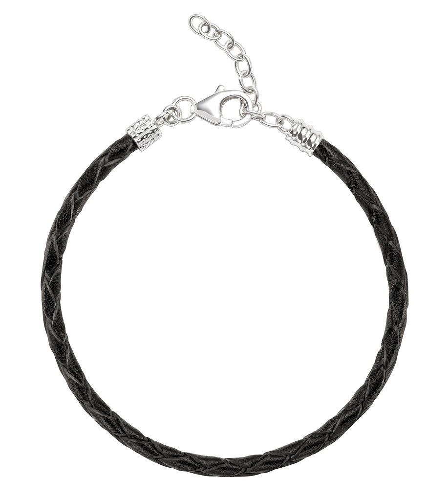 Chamilia Chamilia Braided Black Leather Bracelet