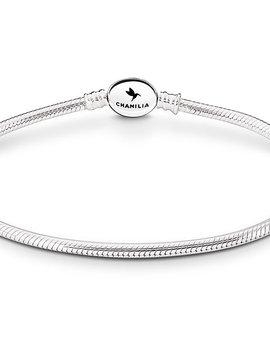 """Chamilia Oval Snap Snake Chain Bracelet 7.9"""""""
