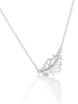 """Chamilia Feather Pendant on 18"""" Cable Chain"""