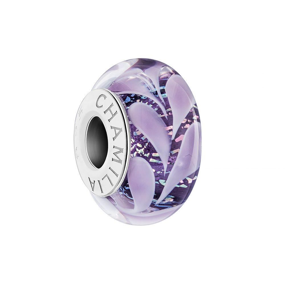 Chamilia Paisley Iris Murano Glass Bead