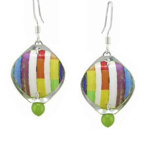 Singerman and Post Mini Summer Stripes Earrings