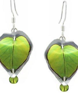 Singerman and Post Green Leaves Mini Earrings
