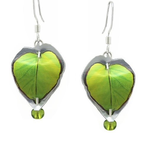 Singerman and Post Green Leaves Mini Earrings