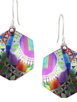 Singerman and Post Hexacolor Swing Earrings