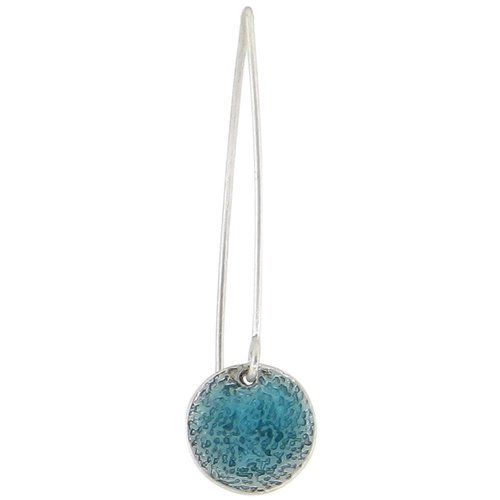 Baked Beads Textured Enamel Long Drop Earrings
