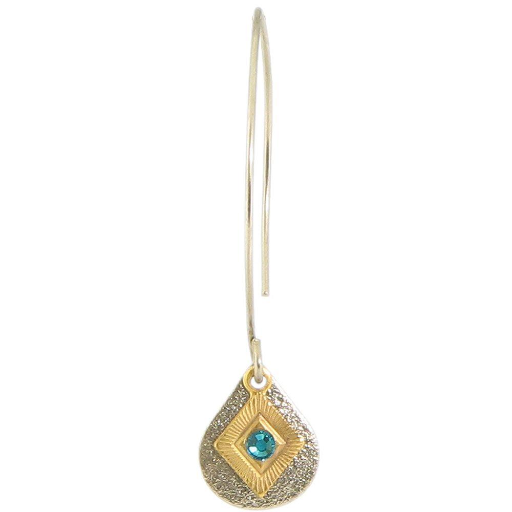 Baked Beads Diamond Teardrop Long Drop Earrings