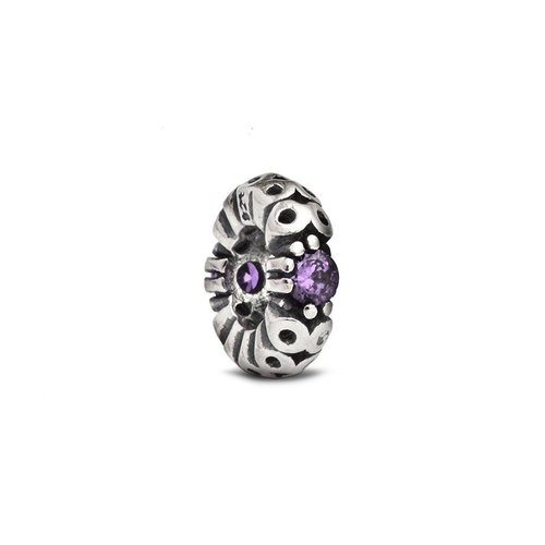 Fenton Sterling Silver Spacer w/ Purple Crystal Accent