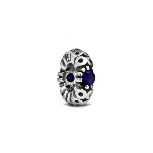 Fenton Sterling Silver Spacer w/ Dark Blue Crystal Accent