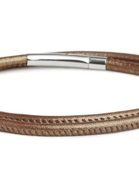 Fenton Double Wrap Leather Bracelet - Bronze