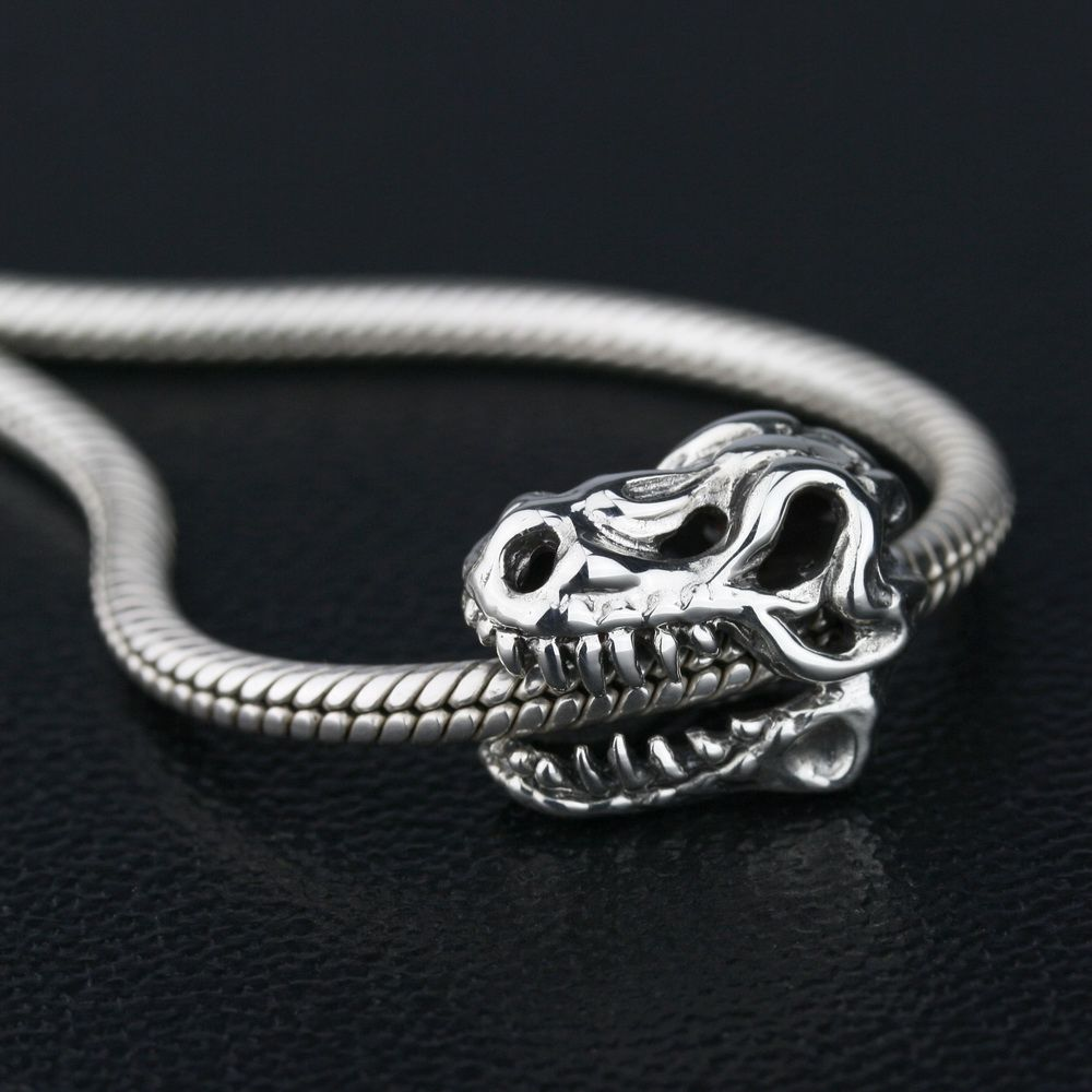 Ohm Beads Ohm Beads Sterling Silver T-Rex Skull