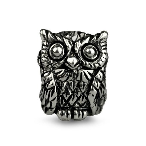 Ohm Beads Ohm Beads Sterling Silver Owl