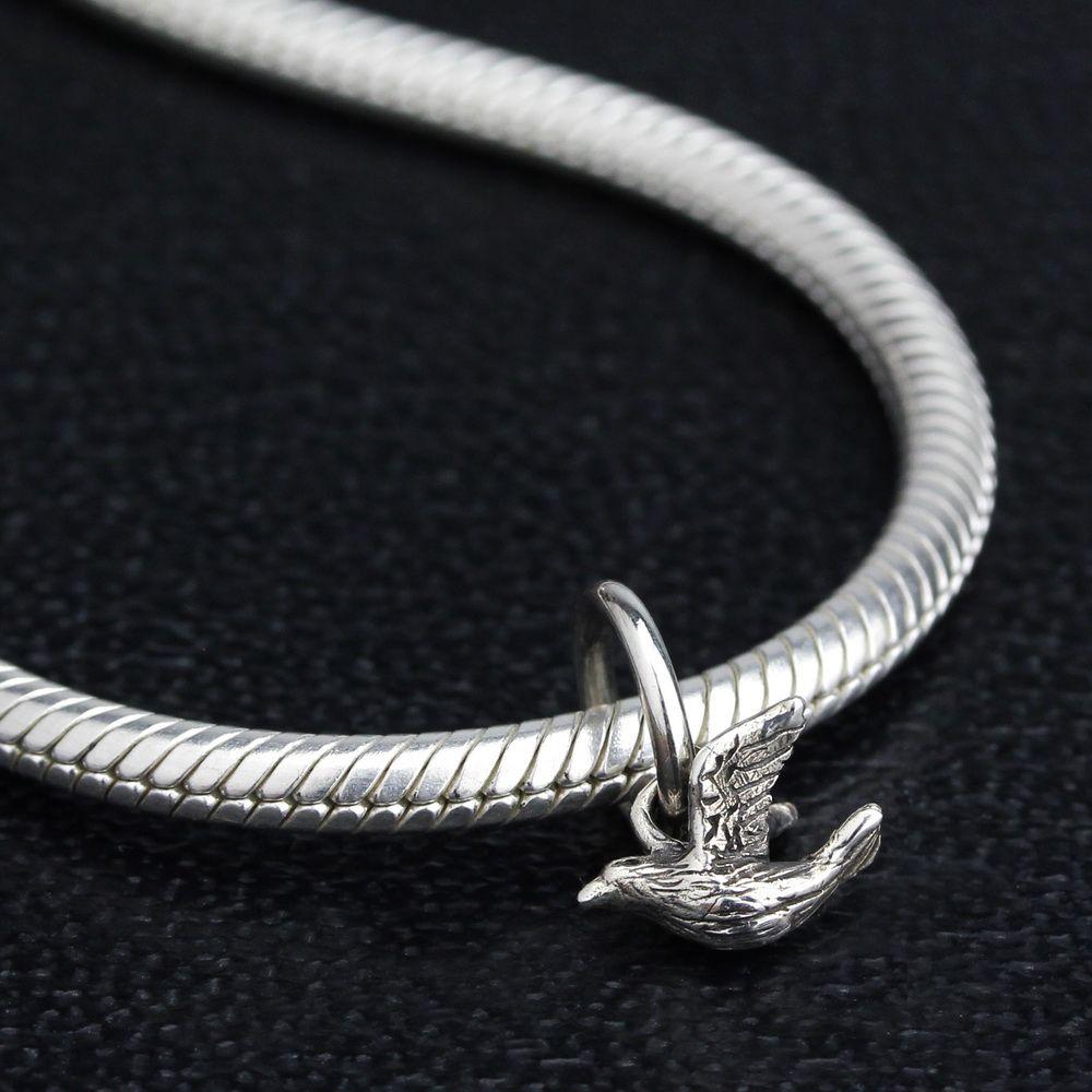 Ohm Beads Silver Birdie Charm
