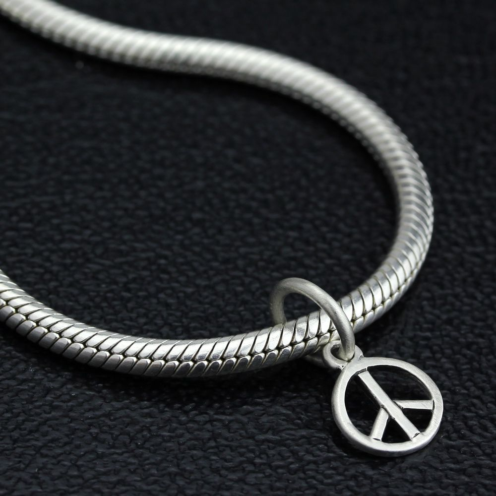 Ohm Beads Woodstock Peace Charm
