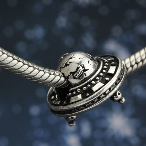 Ohm Beads UFO Sterling Silver Bead