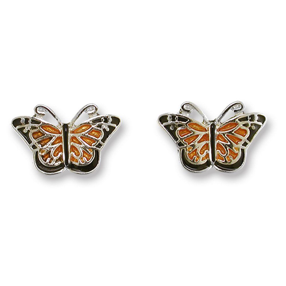 Zarah Monarch Butterfly Post Earrings