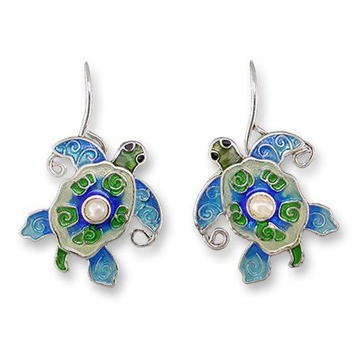 Zarah Pearly Turtle Earrings