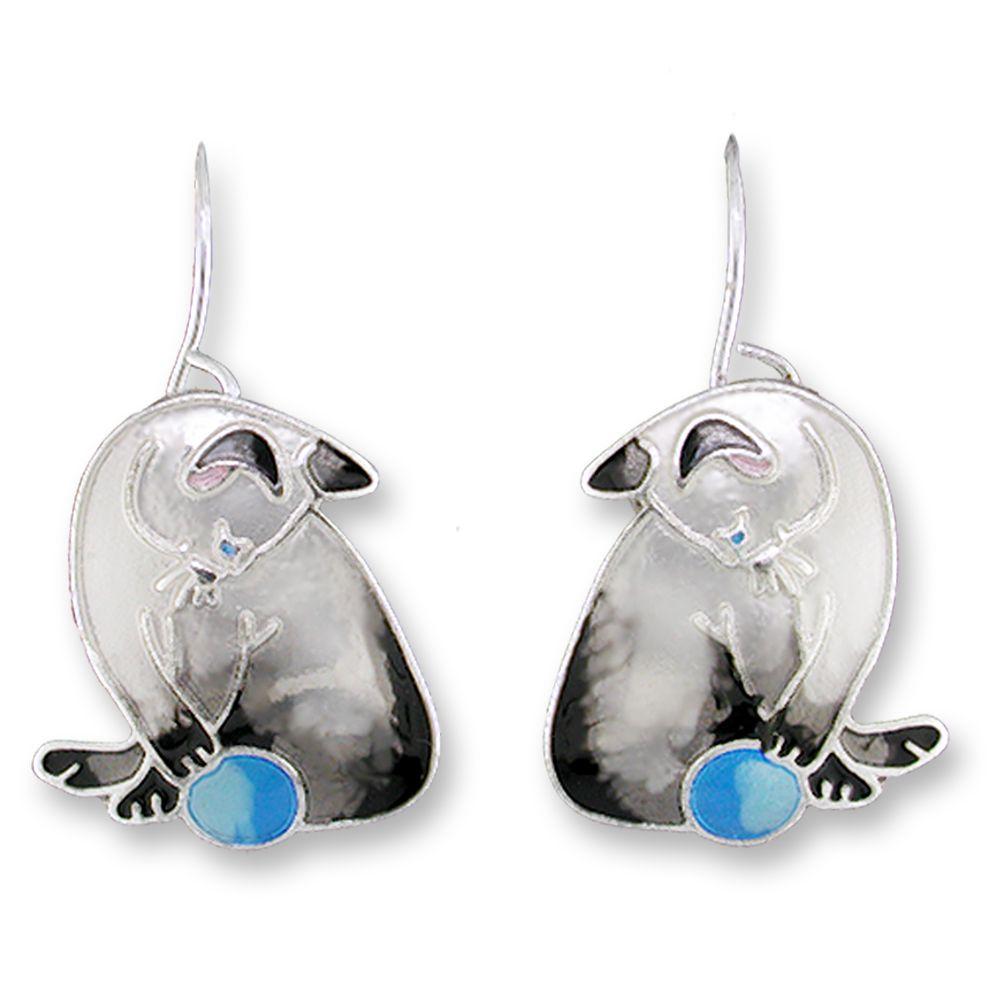 Zarah Siamese Cat Earrings