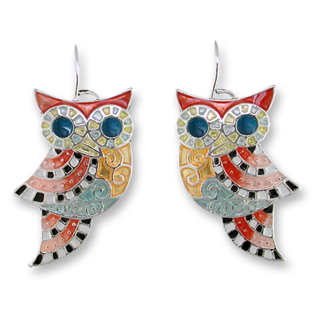 Zarah Psychadelic Owl Earrings