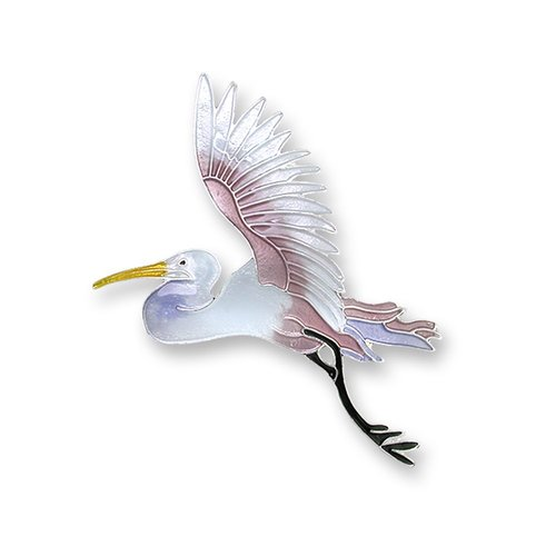 Zarah Flying Egret Earrings