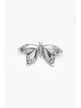 Silver Spoon Butterfly Brooch