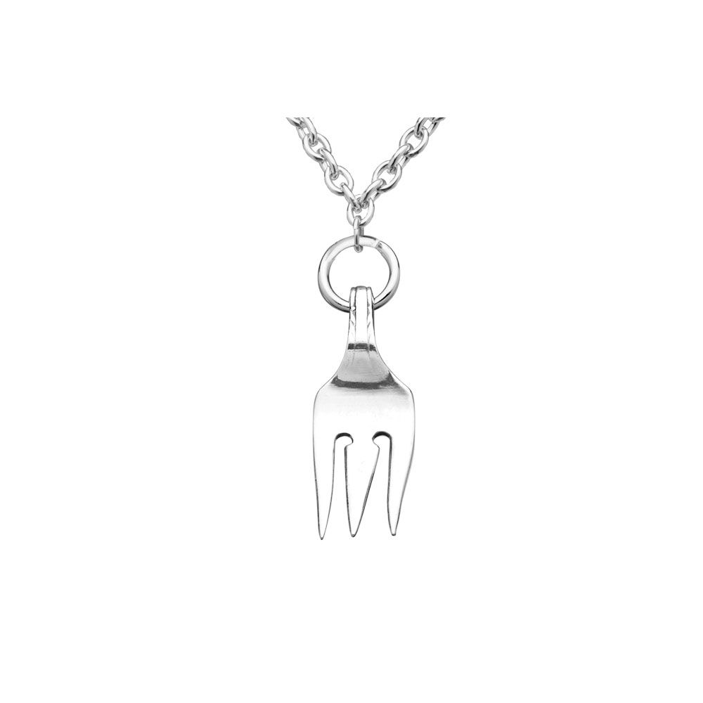 Silver Spoon Winston Fork Necklace