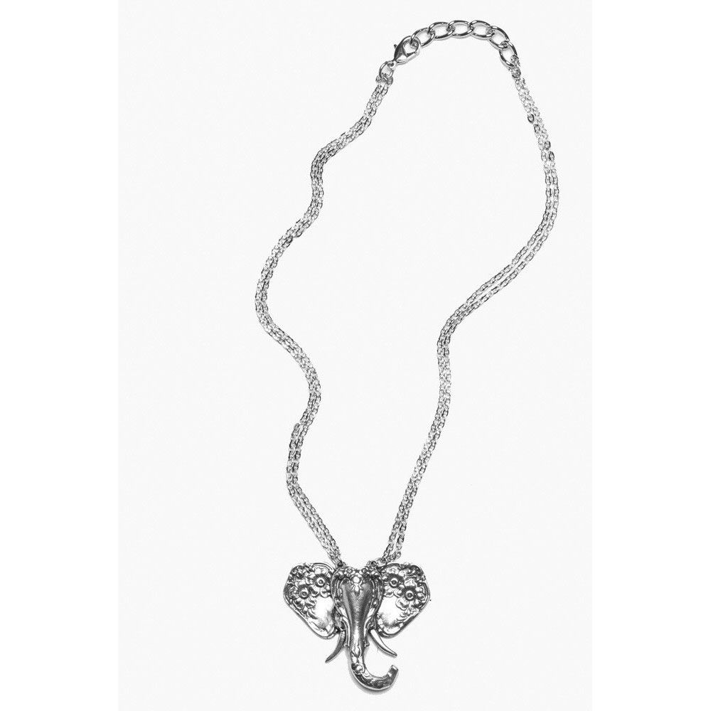 Silver Spoon Elephant Necklace