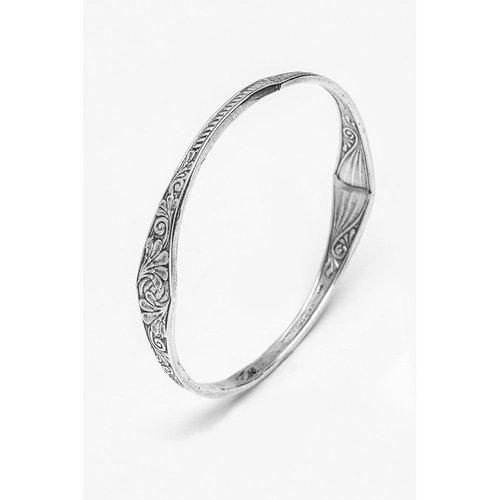 Silver Spoon Princess Bangle Bracelet